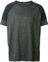 Roberto Collina 'Overdyed Military' T-shirt - men - Cotton/Linen/Flax/Spandex/Elastane/Viscose - 52