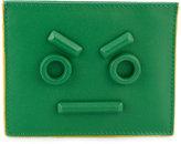 Fendi three-slot card holder - men - Leather - One Size