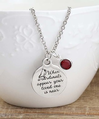 Swarovski Designs By Karamarie Designs by KaraMarie Women's Necklaces silver - Red & Stainless Steel Cardinal Necklace With Crystals
