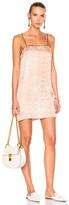 Raquel Allegra Silk Damask 90s Mini Dress in Brown,Floral,Neutrals.