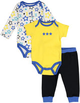 Cutie Pie Baby Yellow & Blue Star Bodysuit Set - Infant