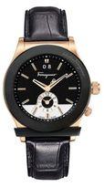 Salvatore Ferragamo Mens 1898 Rose Gold Dual Time Watch