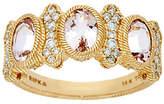 Judith Ripka 14K Gold 1.70 cttw Morganite & 1/3cttw Diamond Ri