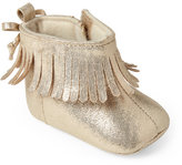 rising star (Infant Girls) Gold Fringe Booties