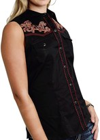 Roper Embroidered Western Shirt - Snap Front, Sleeveless (For Women)