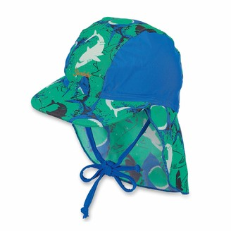 Sterntaler Boys Peaked Cap with Neck Protection Age: 5-6 Months Size: 43cm Green/Blue (Peppermint)