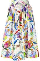 Etro floral flared skirt