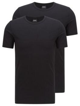 HUGO BOSS Two Pack Of Slim Fit Underwear T Shirts - Black