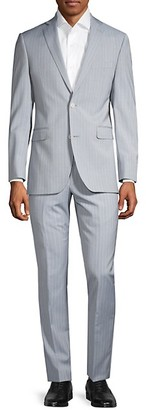 Saks Fifth Avenue Trim-Fit Pinstriped Wool Suit