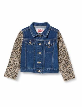 IKKS Junior Girl's Veste Denim Imprime Leopard Waterproof Jacket