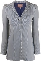 Romeo Gigli Pre Owned 1990s slim-fit striped jacket
