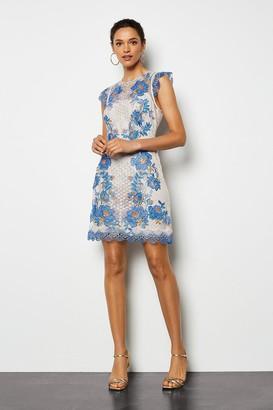 Karen Millen Floral Lace Mini Dress