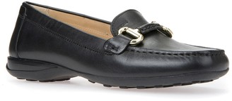 Geox Donna Buckled Leather Loafer