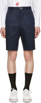 Thom Browne Navy Unconstructed Chino Shorts