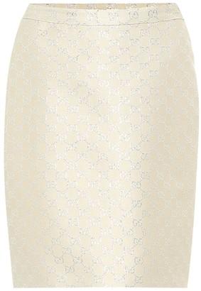 Gucci GG lame wool-blend miniskirt