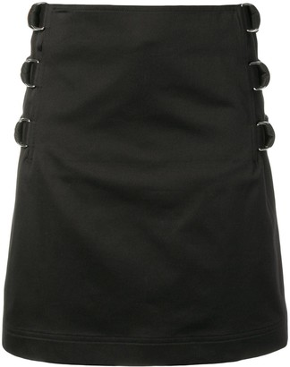 Helmut Lang Buckle Straight Skirt