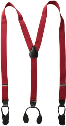 Status Men's Suspenders 11/4 Inch Poly Elastic 46 Inch Leather Button Ends