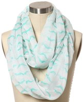 FAYBOX Womens Soft Infinity Scarf With Multicolor Printed Sheer Loop E 04