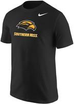 Nike Men's Black Southern Miss Golden Eagles Big Logo T-Shirt