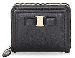 Salvatore Ferragamo Women's French Leather Zip-Around Wallet