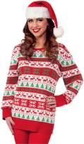 Forum Novelties Men's Plus Size Winter Wonderland Novelty Christmas Sweater