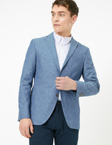 Marks and Spencer Slim Fit Cotton Chambray Jacket