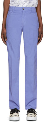 Kenzo Purple Garment Dyed Chino Trousers