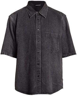 Balenciaga Normal Fit Cotton Denim Shirt