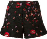 Giamba lady bug and lips print shorts