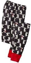Adult Disney Mickey Mouse Long John Pajama Pants In Organic Cotton