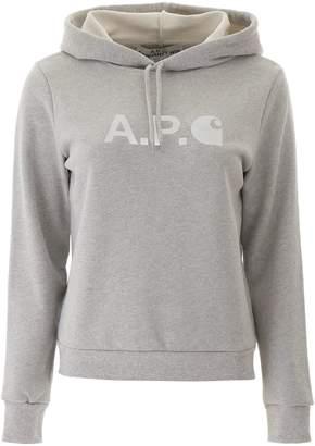 A.P.C. X Carhartt WIP Logo Printed Hoodie
