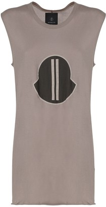 Moncler + Rick Owens Printed Cotton Long T-shirt