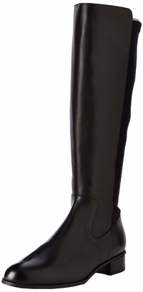 Karen Millen Women's Olivia Step High Boots (Black Blk) 4.5 (39 EU)