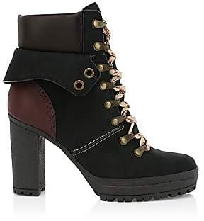 See by Chloe Women's Eileen Nubuck & Leather Hiking Boots
