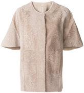 Drome short-sleeved cape coat