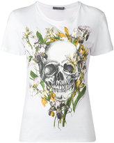 Alexander McQueen iris skull T-shirt - women - Cotton - 38