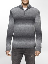 Calvin Klein Space Dyed Quarter Zip Sweater
