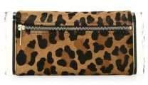 Edie Parker Leopard Print Calf Hair Clutch