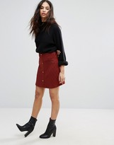 Vero Moda Skirt With Button Front