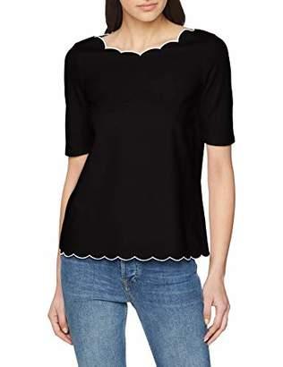 Comma Women's 81.902.32.3483 T-Shirt, (Black 9999), 6 (Size: 32)