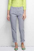 Classic Women's Petite Not-Too-Low Rise Seersucker Pants-Evening Sky Stripe