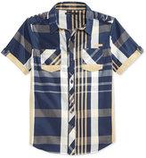 Sean John Boys' Crosstown Plaid Short-Sleeve Shirt