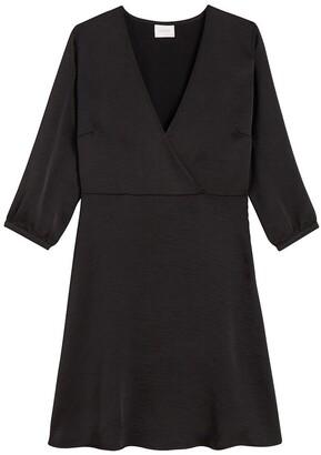 Vila Flared Wrapover Mini Dress with 3/4 Length Sleeves