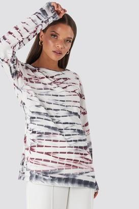 NA-KD Tie Dye Long Sleeve T-shirt Pink