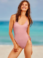 PINK Lace-Up Side One-Piece
