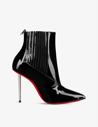 Christian Louboutin Epic boot 100 patent galva black