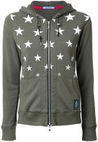 GUILD PRIME star print zipped hoodie