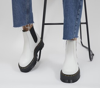 Dr. Martens 2976 Quad Chelsea Boots White