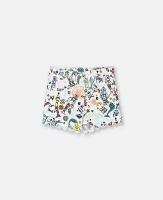 Stella McCartney mermaids doodle denim shorts