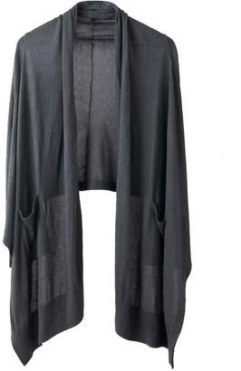 Voya Avoir Charcoal Cashmere Silk Wrap Cardigan